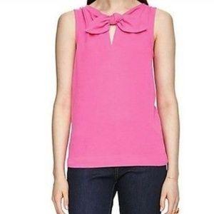 Kate Spade Hot Pink Pomona Bow Collar Tank L